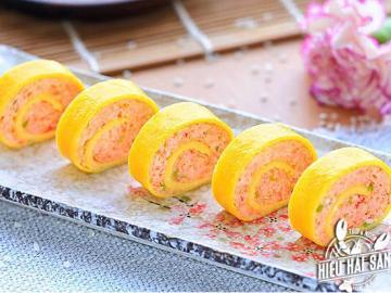Tôm sú cơm cuộn kiểu Nhật